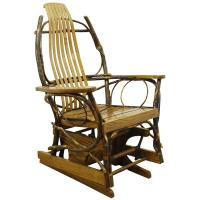 Amish-Made Bent Hickory & Oak Rocking Chair