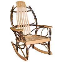 Hickory Rocking Chair w/Oak Arm