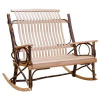 Amish Hickory Double Rocker