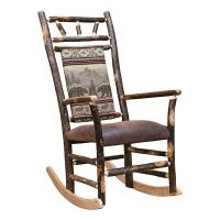 Hickory Rocker w/ Upholstered Back