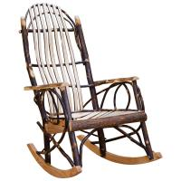 Amish Flat Arm Hickory Rocker