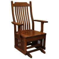 Amish Mission Wood Seat Arm Glider