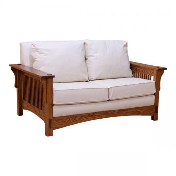 Mission Spindle Love Seat