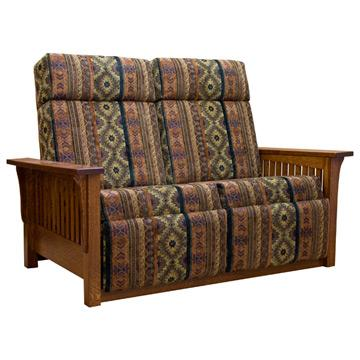 Amish Mission Love Seat Recliner