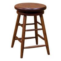 Swivel Bar stool - Red Oak
