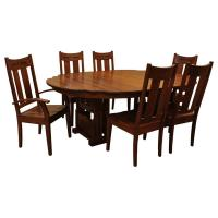 "60"" RD Greene & Greene Gamble House Dining Set-6"