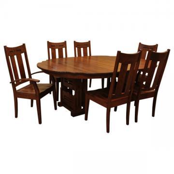 "60"" RD Greene & Greene Gamble House Dining Set-6"