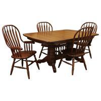Amish Traditional Double Base Dining Set-4