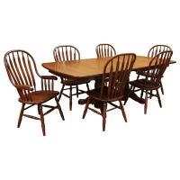 Amish Traditional Double Base Dining Set-6
