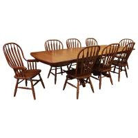 Amish Traditional Double Base Dining Set-8