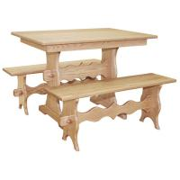 "42"" Amish Mission Trestle Dining-Set2"