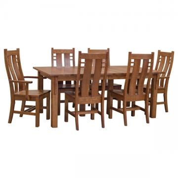 """42"""" x 72"""" Mission Table Set w/ 10 Leaves"""