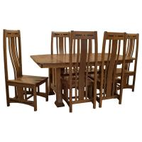 "72"" x 42"" Amish Talieson Dining Set-6 w/4-Leaves"