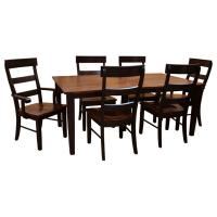 Two-Tone Amish Shaker Dining Set-6 w/ 2-Leaves