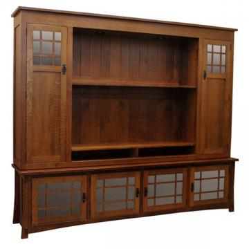 "96"" Amish Craftsman Entertainment Center"