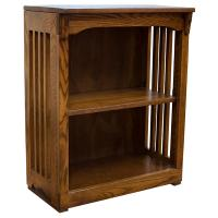 "24"" x 24"" Solid Oak Mission Spindle Bookcases"