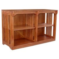 """48"""" x 30"""" x 12"""" Solid Oak Mission Spindle Bookcase"""