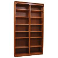 "48"" x 84"" Solid Oak Mission Spindle Bookcases"